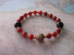 Buy Tibetan turquoise & copal coral in inlays bracelet by shynnasplace. Explore more products on http://shynnasplace.etsy.com