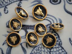 Handsome fox buttons from @Alice Richardson Summer is a Verb
