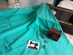 Mint Green solid cotton lycra fabric, 4 way stretch knit fabric - 185cm wide