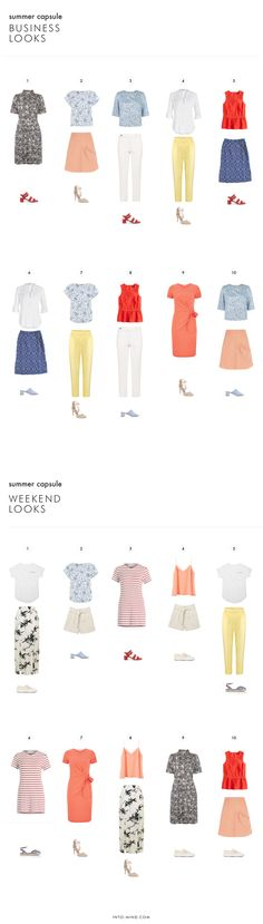 People Tree. Summer Capsule Wardrobe for Work and Play. SS16. www.peopletree.co.uk via Into Mind