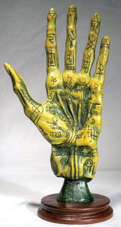 This unique Palmistry Hand has a gothic and alchemical twist. The detail of this product speaks for its self, with the unique colors, lines, and stance. Perfect gift for yourself or the collector of u