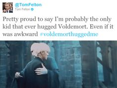 from tom felton's twitter. <3 Probably one of my favorite moments from this movie. :)
