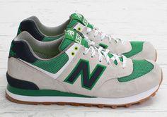 New Balance 574   Green, Grey & Gum