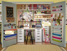 20 Crafty Workspace + Storage Ideas from Ikea. Love Ikea for my craft room. Craft Room Storage, Craft Organization, Diy Storage, Organizing Crafts, Pegboard Storage, Ribbon Storage, Closet Craft Rooms, Bathroom Storage, Kitchen Storage
