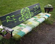 Knitted graffiti style