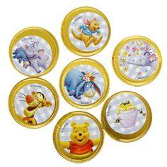 winnie the pooh partydisney winnie the pooh chocolate coin£0.15each