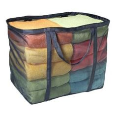 Micro Mesh Laundry Tote. Reinforced handles help you carry anything.