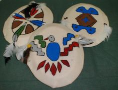 Plains Indian shields for kids