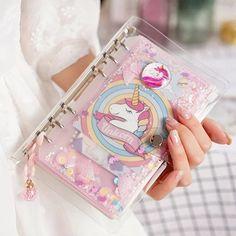 Kawaii Unicorn A6 6 ring binder journal Notebook SetPlanner | Etsy Planner Kawaii, Cute Planner, Planner Book, Week Planner, Unicorn Fashion, Cool School Supplies, Cute Stationary, Unicorn Stationary, Cute Notebooks