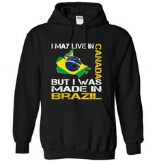 I May Live in Canada But I Was Made in Brazil (Yellow) - #homemade gift #gift for women. HURRY => https://www.sunfrog.com/States/I-May-Live-in-Canada-But-I-Was-Made-in-Brazil-Yellow-gjpomhjzrt-Black-Hoodie.html?68278