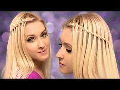 Waterfall braid hairstyle for medium/long hair tutorial BACK TO SCHOOL ✿ For beginners, on yourself Braided Hairstyles Tutorials, Easy Hairstyles For Long Hair, Headband Hairstyles, Hair Tutorials, Pixie Hairstyles, Prom Hairstyles, Medium Long Hair, Medium Hair Styles, Long Hair Styles