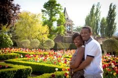 #Portrait of couple celebrating their #engagement. Photography in Holland Park, London. Top Four Favourite Parks in London photo