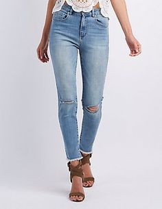 "Refuge ""Hi-Rise Skinny"" Destroyed Jeans"