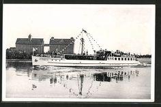 schöne AK Königsberg, Doppelschraubendampfer-Motorschiff Elisabeth