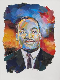 """ - collage by John Morse / Star Dog Studio Martin L King, Martin Luther King, Romare Bearden, Collage Portrait, Jr Art, African American Art, King Jr, People Art, Black Art"
