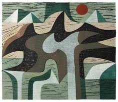 Peter Green OBE 'Night Earth Form' woodcut and stencil print https://www.stjudesprints.co.uk/collections/peter-green