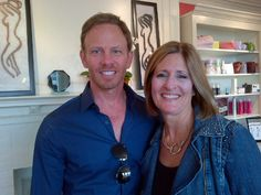 Here with Ian Ziering - what a great guy! speaking engagement at Morristown, NJ B.I.G. at Susan's Day Spa Wellness event.