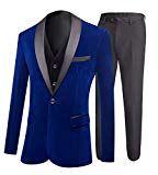 Botong Royal Blue Jacket Black Vest Pants Men Suits Wedding - Import It All Suit Vest, Blazer Jacket, Wedding Suits, Blue Wedding, Royal Blue Suit, Groom Tuxedo, Dinner Jacket, Business Formal, Black Vest