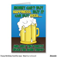54 best funny greeting cards images on pinterest funny greeting funny birthday card for man beer m4hsunfo