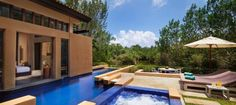 Playa del Carmen, Mexico. Hotel w/ private pool. Banyan Tree Mayakoba