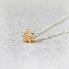 Tiny gold star necklace in sterling silver by laonato on Etsy, $19.00