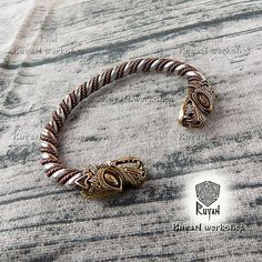 VIKING BRACELET. Nickel silver Bracelet Viking Jewelry. Bear