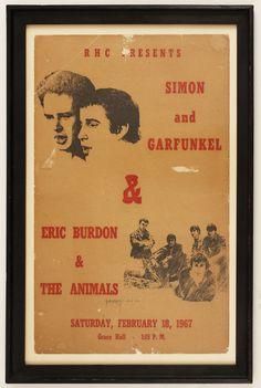 1967 Simon & Garfunkel and Eric Burdon/Animals Original Concert Poster