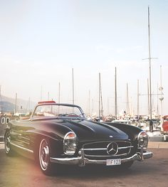 pinterest.com/fra411 #classic #car #Mercedes-Benz 180 SL.