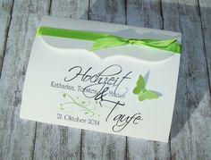 Schön Einladung HOCHZEIT/TAUFE Bogenkarte Von Kartenmanufaktur Arndt