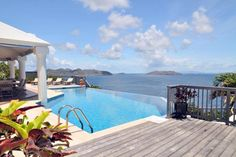 Breathtaking views from the #pool in St. Barts