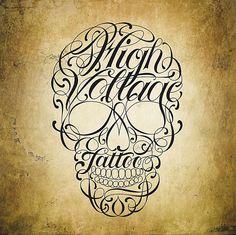 #skull #typographic #tattoo