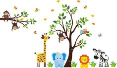 Hello and Welcome!!! We carry over 800 unique nursery wall decals for your child's nursery room.  We have many different themes & color combinations to match any room.  If you were looking for specific themes, we specialize in Safari, Jungle, Forest, Farm and Ocean designs.  All of these decals are completely removable and reusable and are also made from a very HIGH QUALITY material.   https://www.etsy.com/listing/287641523/baby-room-jungle-wall-stickers-safari?ref=shop_home_active_28…