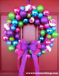 Christmas Ornament Wreath tutorial