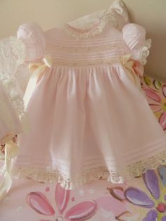 READYTOSHIP / 36 Months Heirloom Baby Dress by justforbabyonline