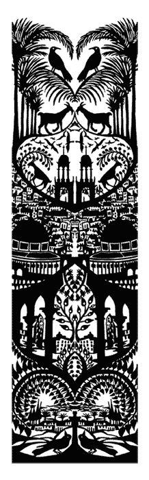 Andrea Dezsö  Cut Paper & Silhouette    Jerusalem    llustration appeared in Harper's January 2008 issue