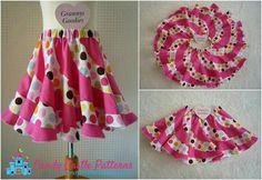 Crochet Child Costume Peppermint Swirl Skirt Tutorial - Free obtain - Stunning twirly skirt!Like this skirt pattern Sewing For Kids, Baby Sewing, Skirt Tutorial, Tutorial Sewing, Little Girl Dresses, Sewing Clothes, Dress Patterns, Sewing Patterns Girls, Baby Dress