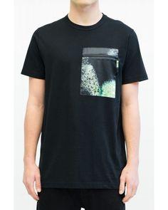 AW15 mens black cotton Reserve t-shirt with pocket Black Cotton b460e3d1f95d