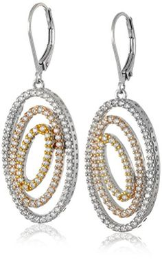 Rhodium 18k Gold and Rose Gold Plated Sterling Silver Cubic Zirconia Triple Oval Shape Dangle Earrings.More info for drop earrings;rose gold earrings;unique earrings;rose stud earrings;silver stud earrings could be found at the image url.(This is an Amazon affiliate link and I receive a commission for the sales)