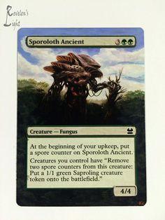 Sporoloth Ancient - Full Art MTG Alter - Revelen's Light Altered Art Magic Card