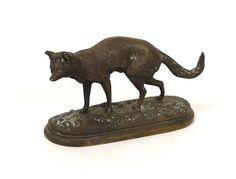 Sculpture renard en bronze 19e - Antiques de Laval