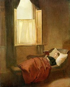 The convalescent by Ambrose McEvoy born August 12, 1878 in Crudwell (Wiltshire), UK died January 4, 1927 (48) in London, UK