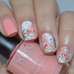 Looking for new nail art ideas for your short nails recently? These are awesome designs you can realistically accomplish–or at least ideas you can modify for your own nails! - Credits to the owner of the image - Fabulous Nails, Perfect Nails, Gorgeous Nails, Get Nails, Fancy Nails, Pink Nails, Coral Nail Art, Pastel Nail, Pastel Pink