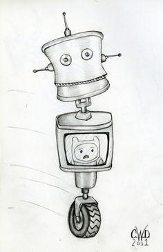 Robot drawing  ©Carolyn Watson Dubisch