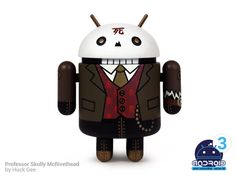 """Andrew Bell reveals Huck Gee's """"Professor Skully McRivethead"""" Android for Series Andrew Bell, Android Series, Game Controller, Vinyl Toys, Designer Toys, Best Camera, Series 3, Professor, Mini"""