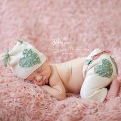 Newborn Pants and Bonnet set made from upcycled material