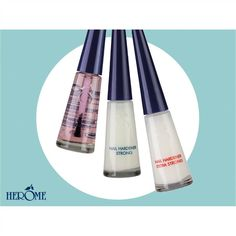The lead product of of Herome is understandably the product with which it all began: the Herome Nail Hardener. Suitable for weak, soft and brittle nails, this reinforcing treatment gives nails their strength back in just 14 days allowing them grow beautiful, healthy and strong. No more torn or broken fingernails.
