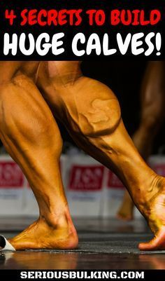 4 Muscle building secrets for huge calves! Learn how to build massive calves with these muscle building tips. #musclebuilding #buildingmuscle #gainmuscle #musclegain #buildmusclefast #musclebuildingtips #musclebuildingnutrition #bodybuilding #fitness