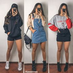 Cute Casual Outfits, Edgy Outfits, Mode Outfits, Dress Outfits, Teen Fashion Outfits, Outfits For Teens, Girl Outfits, Summer Outfits, Teen Fashion Winter