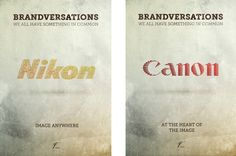 """Designer Stefan Asafti - """"Brandversations"""" These are great. (click to view up close) More here - http://www.behance.net/gallery/The-Greatest-Brandversations/1971913"""
