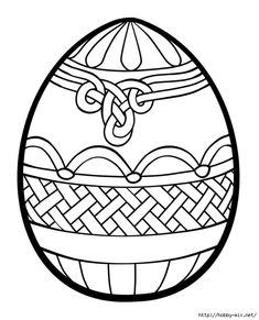 celtic knot easter egg coloring page
